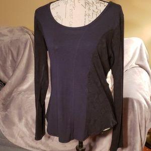 Lulu long sleeve navy top